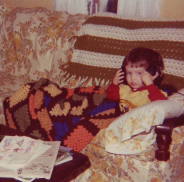 A young Kevin Martin in 1977, no doubt rocking out to Jimi Hendrix