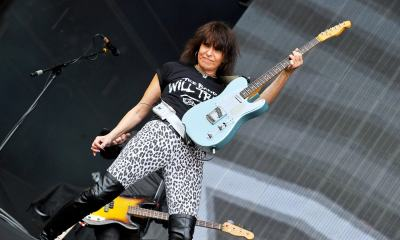 Chrissie Hynde on stage
