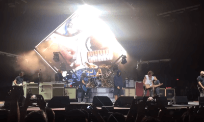 Foo Fighters, Joe Perry and Liam Gallagher performing Come Together