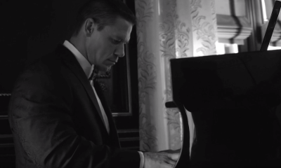 John Cena playing the piano