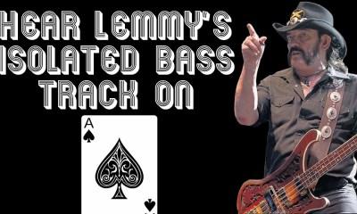 Hear Lemmy Kilmister's isolated bass track on Ace Of Spades