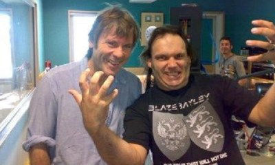 Bruce Dickinson and Blaze Bayley