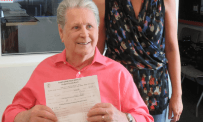 Brian Wilson kindergarten trades F in music in his school report for an A