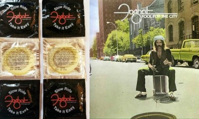 """Classic rock band Foghat launches """"Slow Ride"""" condoms"""