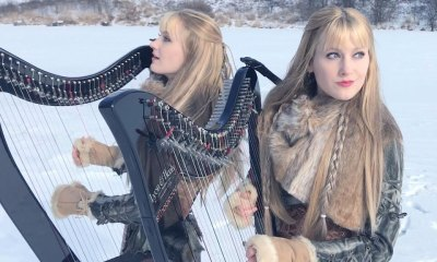 Watch The Harp Twins performing Led Zeppelin's Immigrant Song