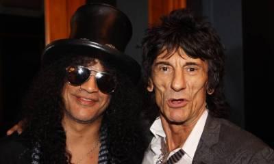 Slash and Ronnie Wood