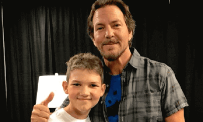 Eddie Vedder meets child with cancer