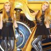 Harp Twins playing Iron Man