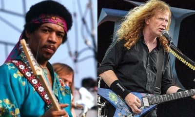 Jimi Hendrix and Dave MustaineJimi Hendrix and Dave Mustaine