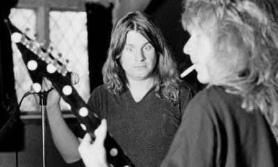 Ozzy Osbourne looking at Randy Rhoads