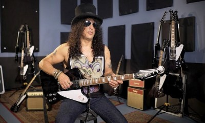 Slash presents new firebird guitar