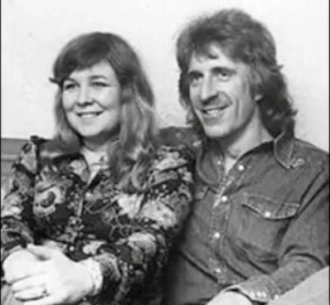 Trevor Lucas with wife Sandy Denny