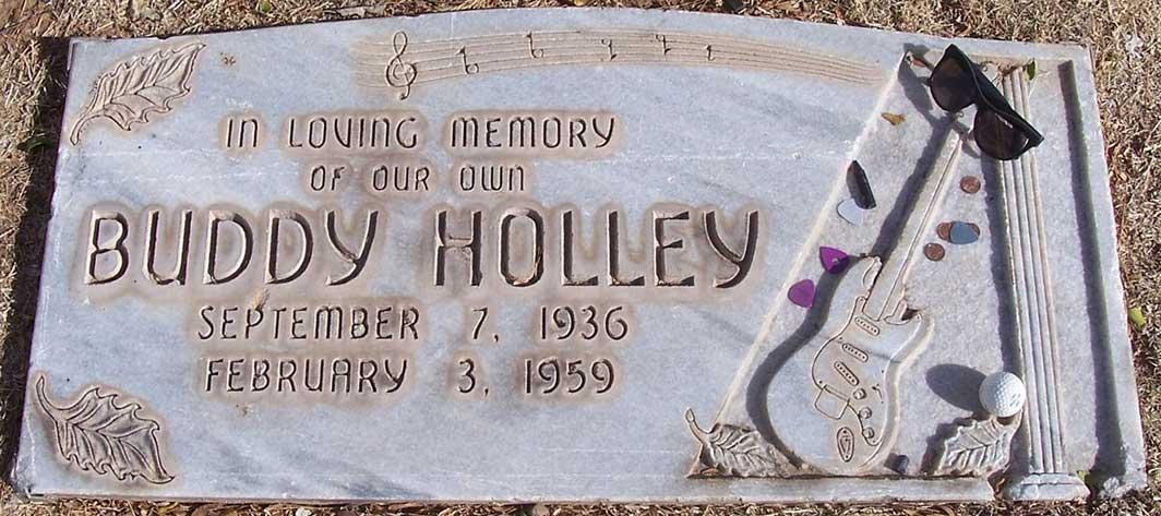Buddy Holly Grave Stone