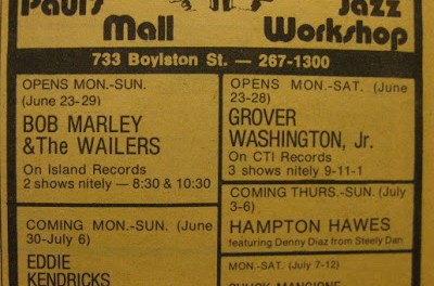 Paul's Mall – First Live Bob Marley Concert In The U.S.