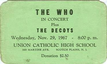 The Who Play Union Catholic High School On Their First U.S. Tour