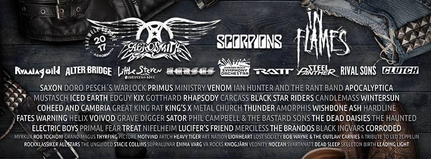 SWEDEN ROCK FESTIVAL: ¡Cartel completo y distribución por días!