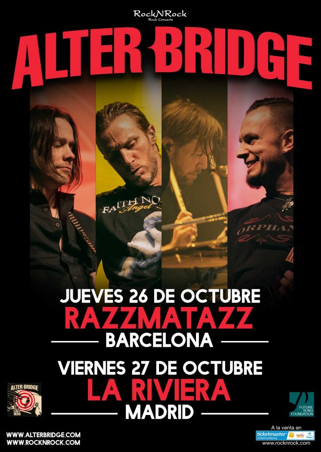 ALTER BRIDGE - Entradas a la venta!