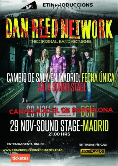 DAN REED NETWORK  - Única fecha en España