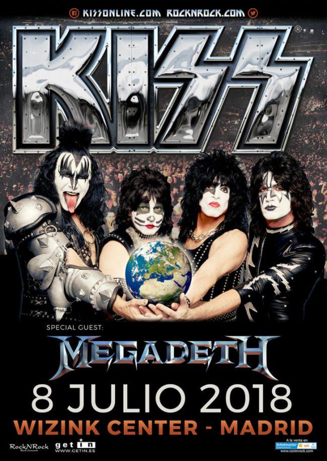 MEGADETH teloneará a KISS en Madrid
