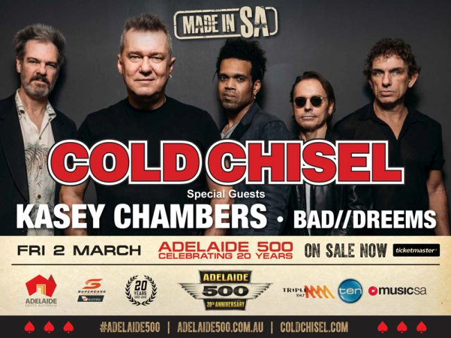 """COLD CHISEL será cabeza de cartel en el festival """"MADE IN SA"""""""