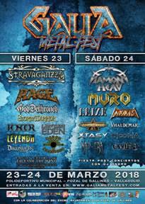 GALIA METAL FEST 2018 - Horarios
