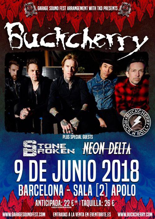 BUCKCHERRY añaden fecha en Barcelona