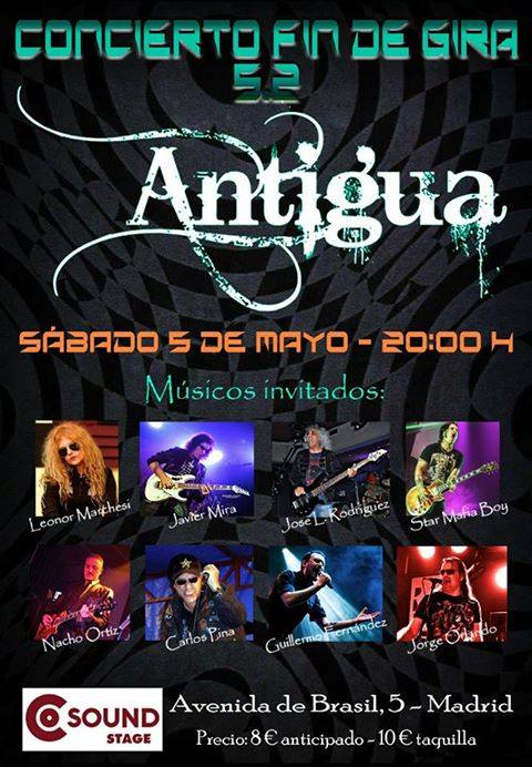 ANTIGUA - Fin de gira en Madrid