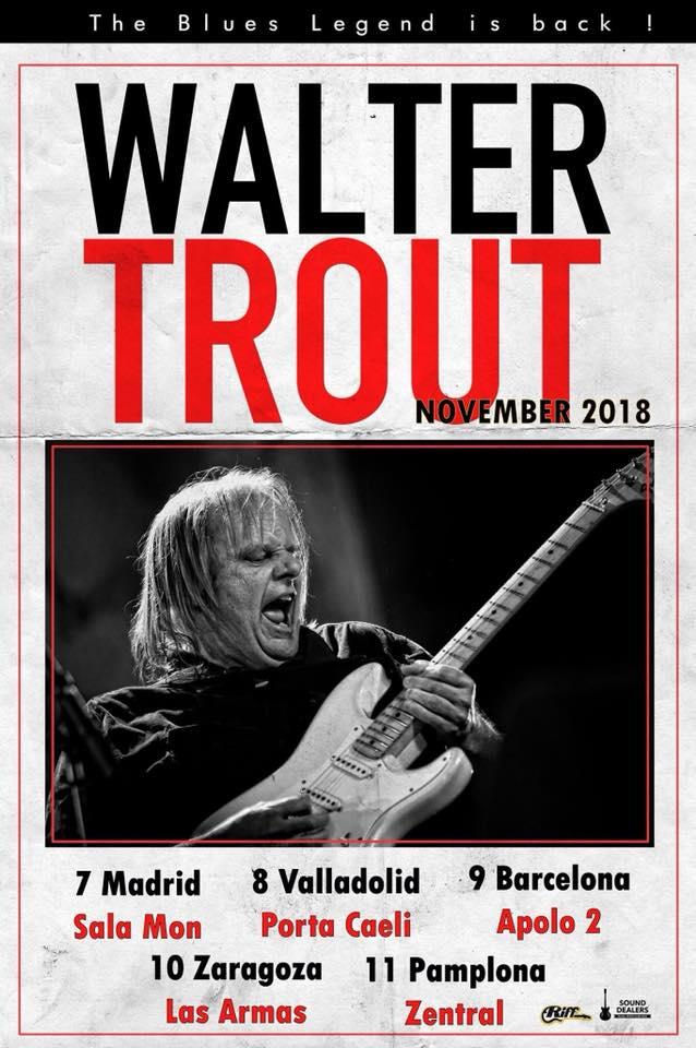 WALTER TROUT - Gira española 2018