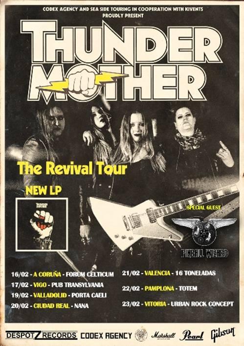 THUNDERMOTHER - Cambios en la gira española