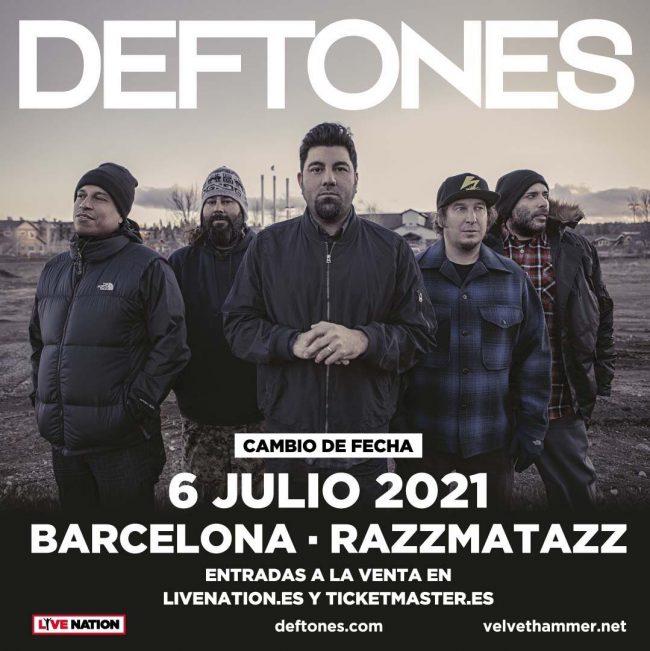 DEFTONES – Concierto en Barcelona aplazado al 2021