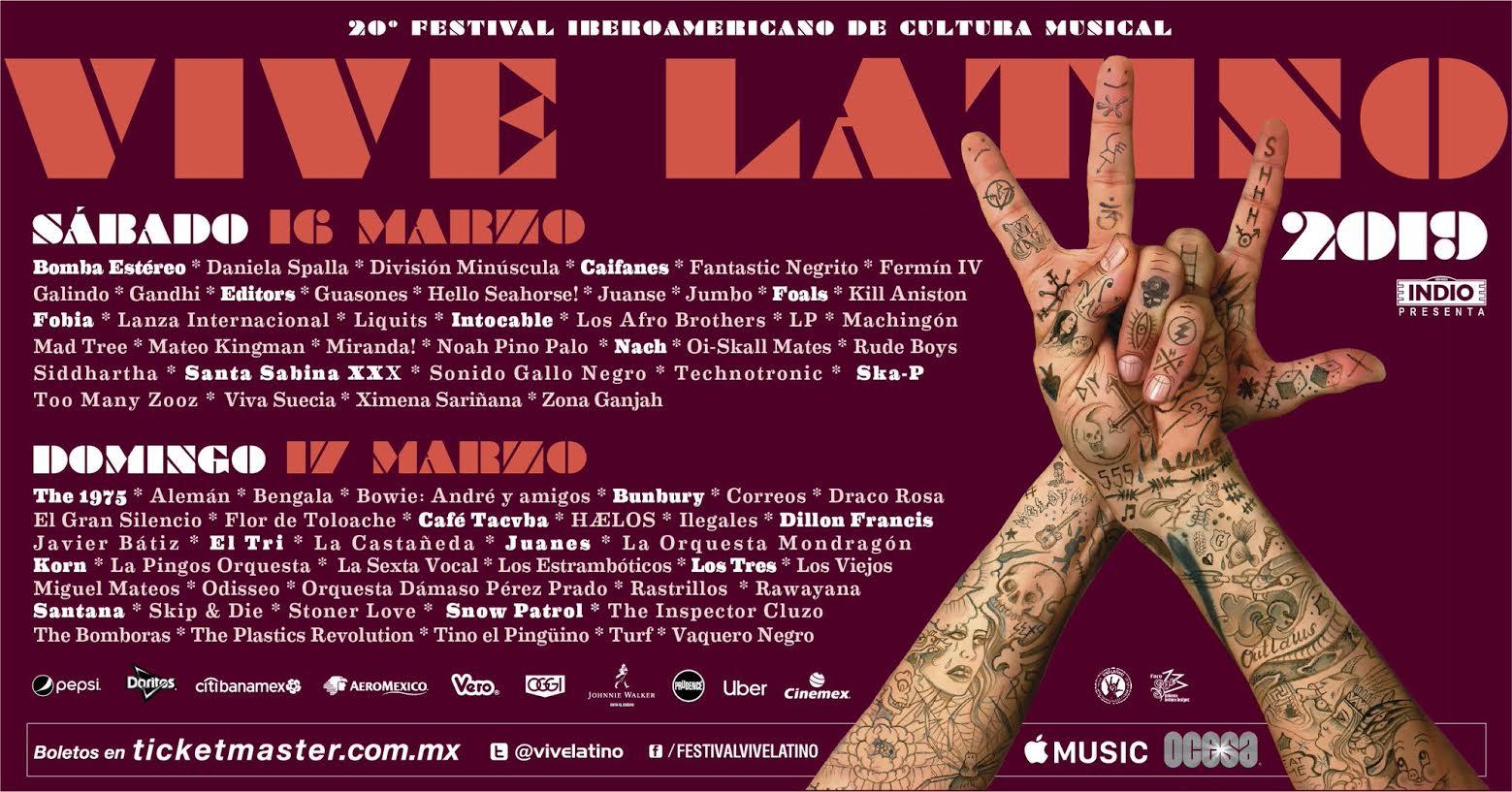 20 años de éxitos del Vive Latino