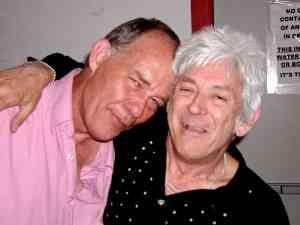 "John Dee Graham and Ian ""Mac"" McLagan at The Continental Club, Austin, Texas (7-11-2009) Photo taken by Charles Gouveia"
