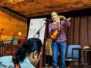 Sarah teaching at Ashokan, NY