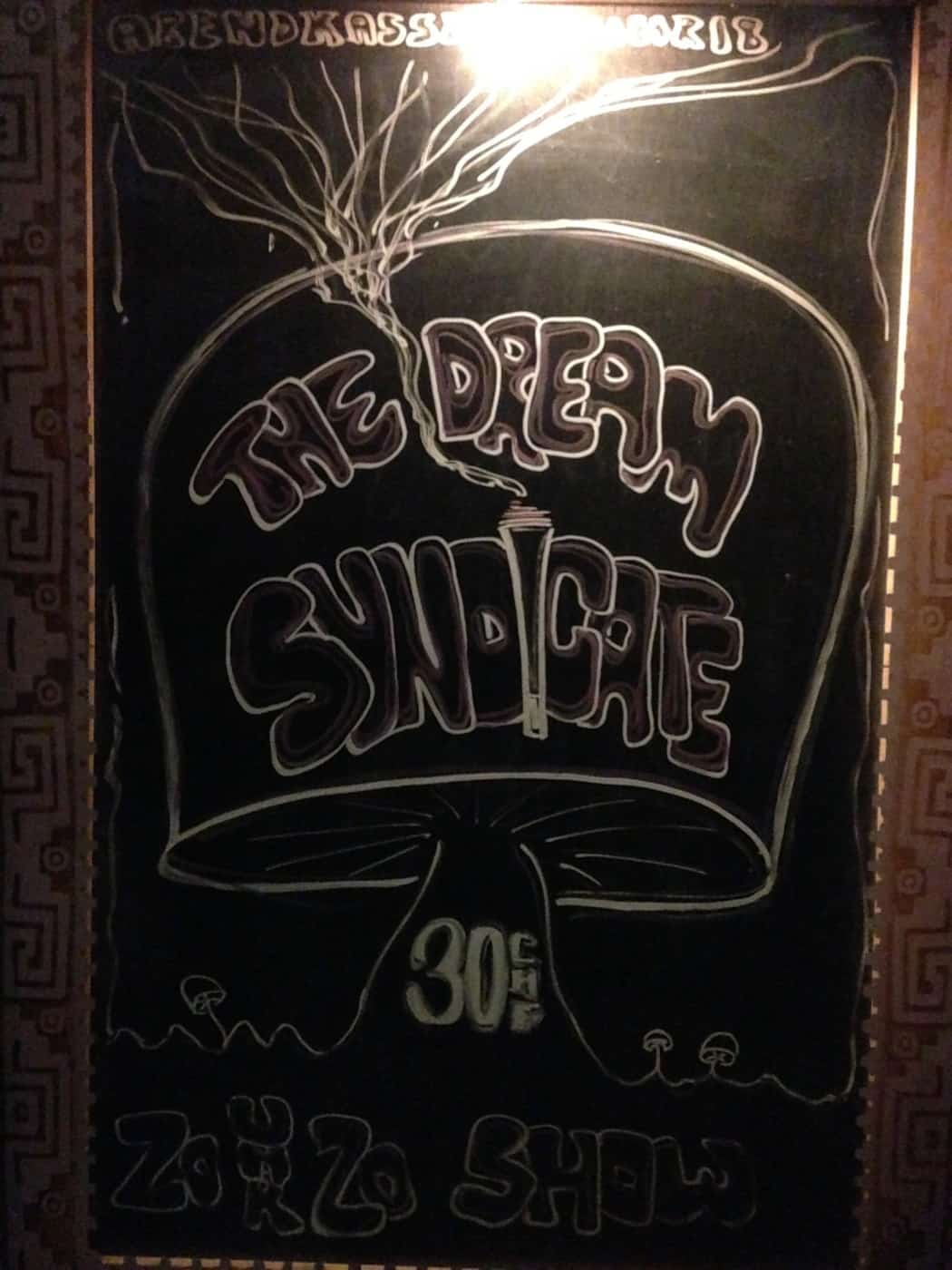 7 Chalk gig poster art at venue