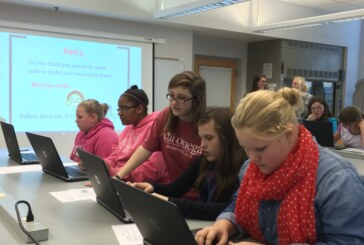 Local middle school girls learn to appreciate science