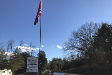 Confederate group removes flag and pole from Route 60 West