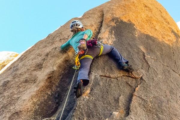 Women Sport Lead Climbing Rock Climb Day