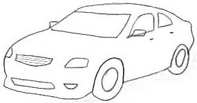 How to draw 3d car step by step for kids & beginners easy video Tutorial