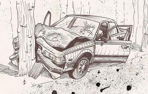 method to draw accident scene