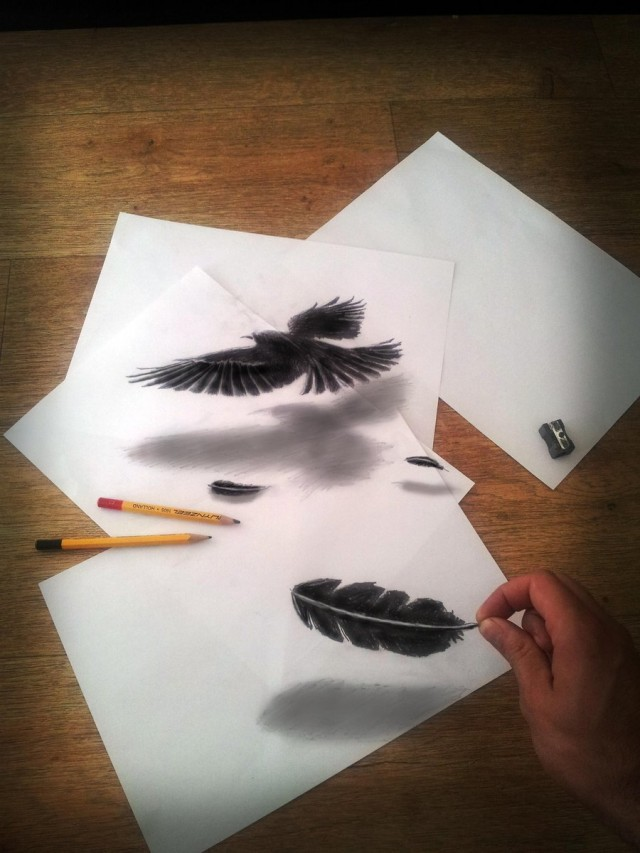 drawing of an illusion