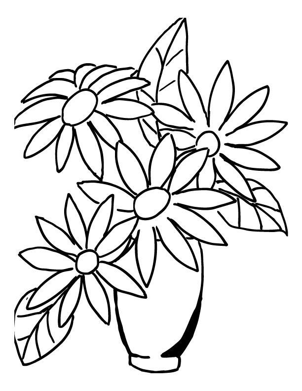 How to draw a flower bouquet step by