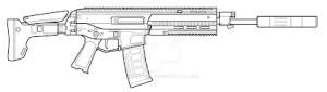 gun easy acr draw drawing step beginners tutorial