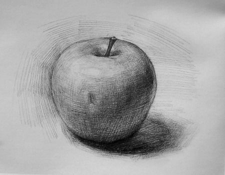 How to draw & shade realistic looking apple step wise beginners video