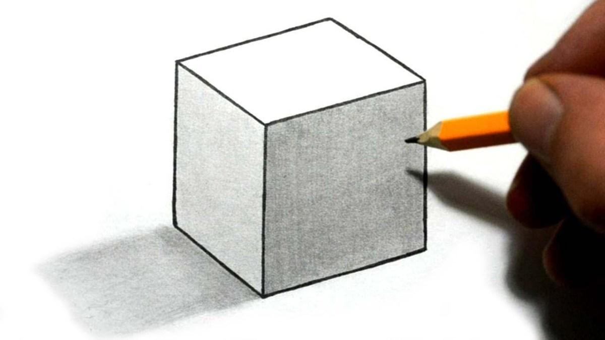 Draw 3d cube illusion with shading easy step by step for beginners video
