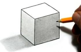 how to draw 3d cube illusion