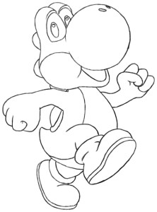 How to draw yoshi's woolly world easy