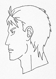 draw male anime face side