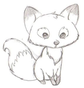 How to draw cartoon fox