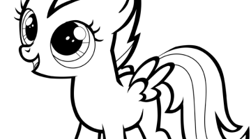 How to draw a my little pony easy step by step for beginners