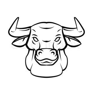 how to draw a bull head for beginner step by step